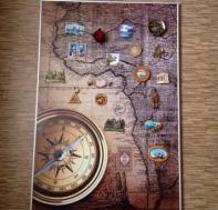 Магнитная доска-карта и компас