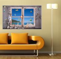 Магнитная доска Окно с видом на море