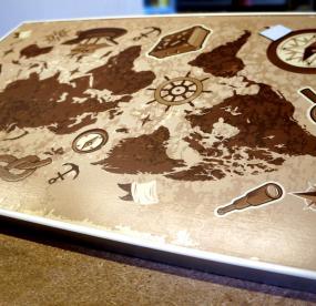 Доска для магнитиков карта мира