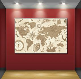 Доска для магнитов карта мира