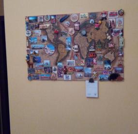 Доска для магнитиков для дома карта мира