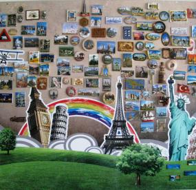 Доска для магнитиков на стену Мировые достопримечательности