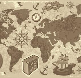 Доска для магнитиков из путешествий карта мира
