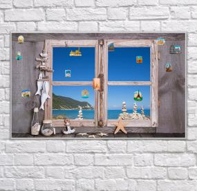 Доска для магнитиков Окно с видом на море