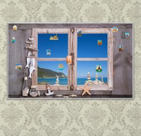Доска для магнитов Окно с видом на море